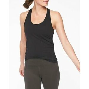 Athleta ; chi racerback black tank top